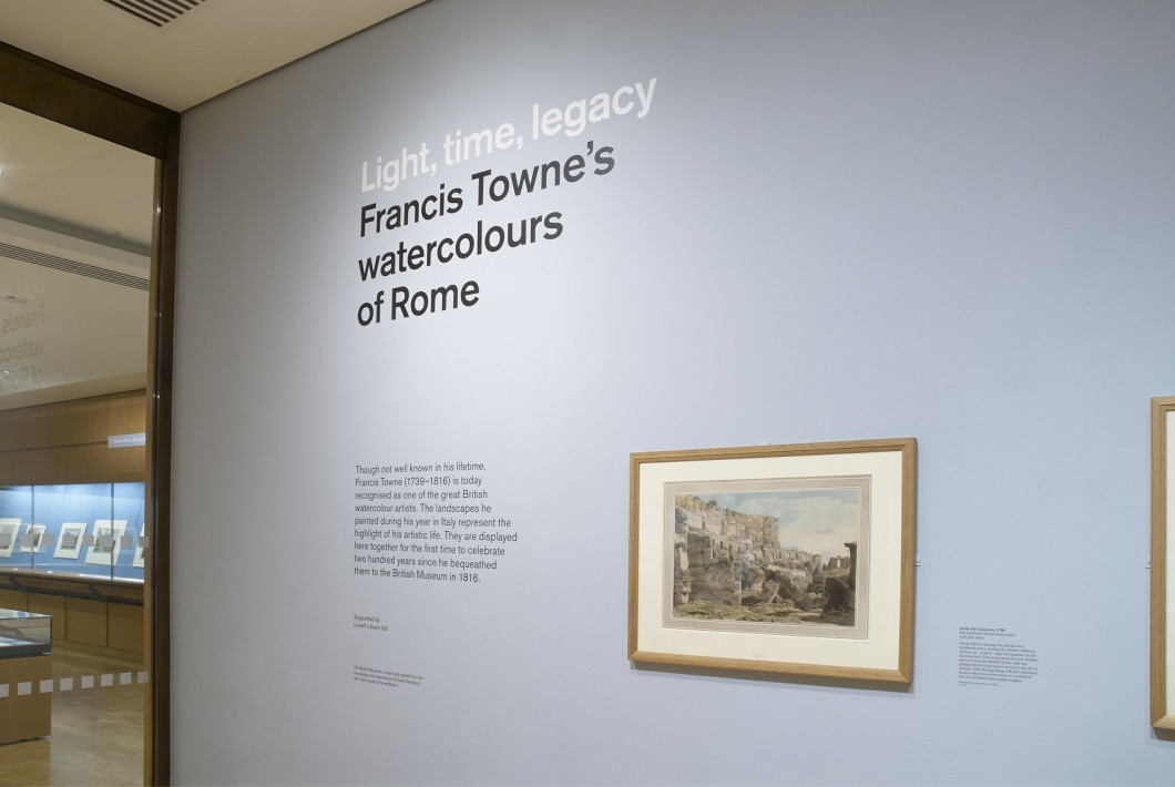<i>Light, time, legacy: Francis Towne's watercolours of Rome</i>, British Museum, 21 January – 14 August 2016